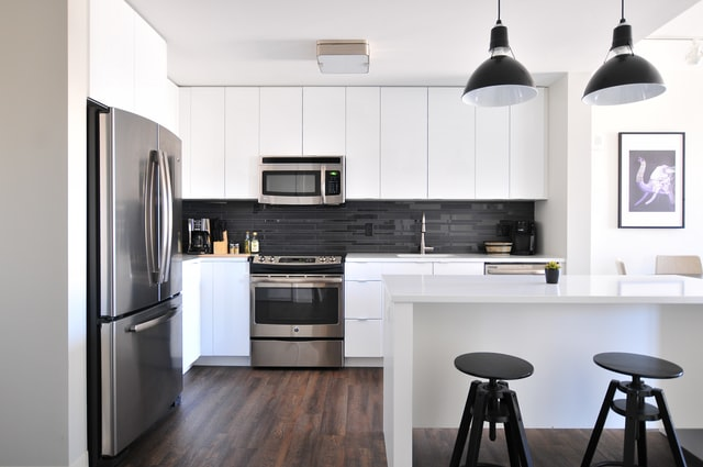 Modern and stylish kitchen after a remodel