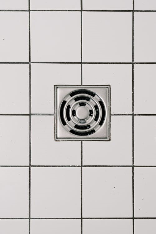 shower drain with steel cover