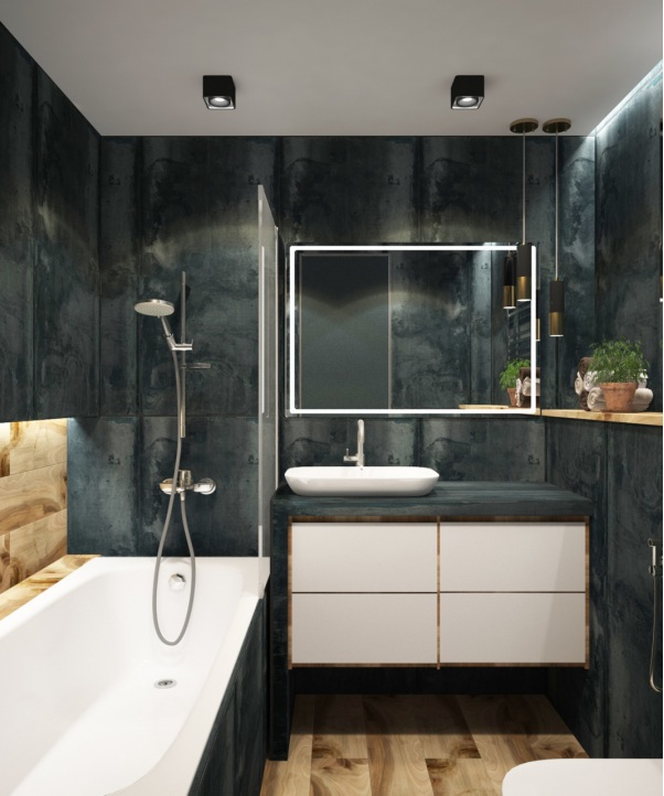 A modern bathroom with eco-friendly fixtures